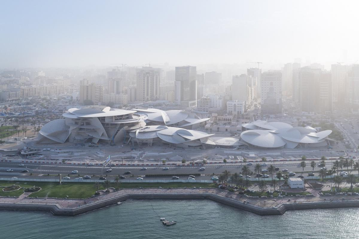 The National Museum of Qatar's unusual design is inspired by desert rose crystal formations