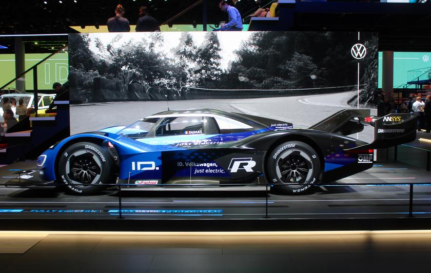 The Volkswagen ID.R looking incredibly fast even when chilling out in Frankfurt