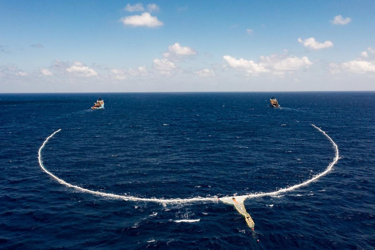 The Ocean Cleanup Project has deployed a new system that uses active propulsion