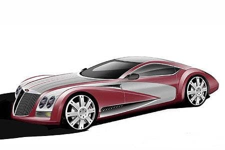 The first design sketches to be released shoiw a car with an uncanny resemblance to the Maybach Excelero