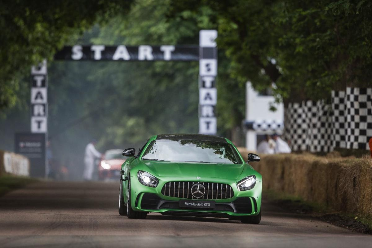 Rear-wheel steering makes the AMGGTRsharper at low speed, but more stable at high speed