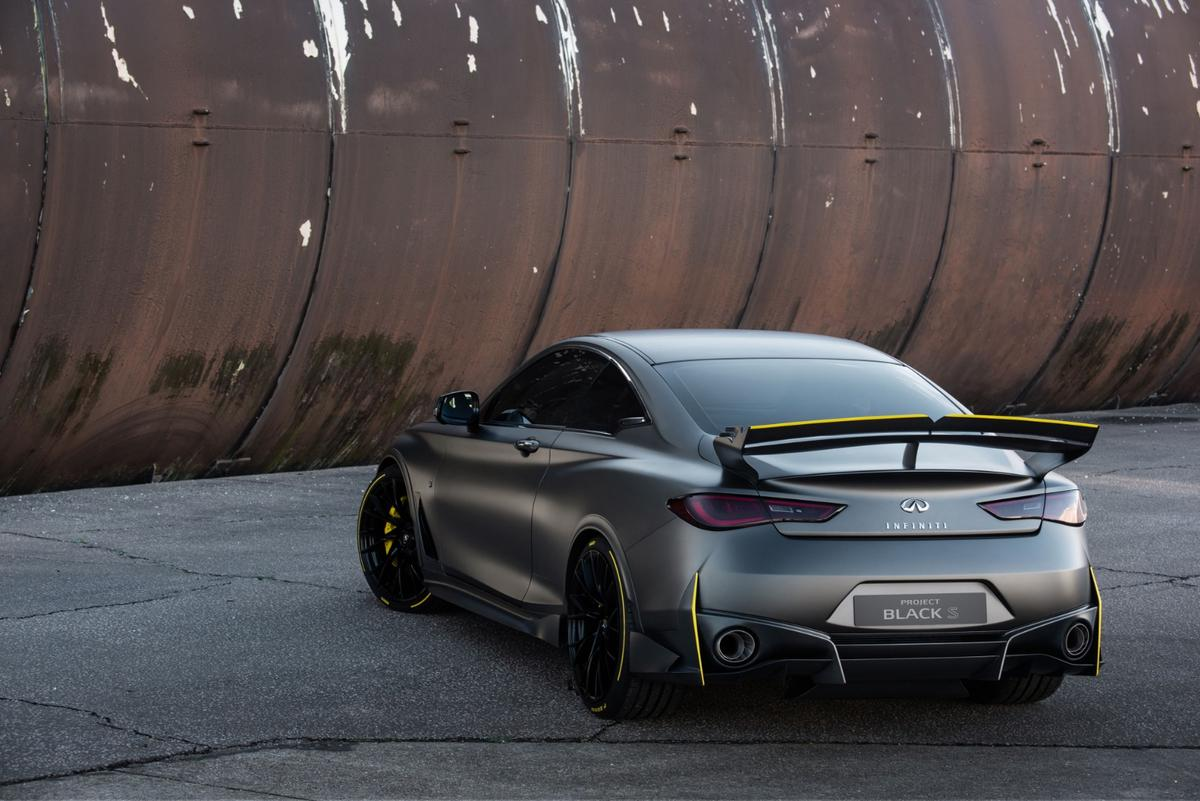 With its F1-derived rear wing and drivetrain technologies, the Infiniti Project Black S brings racing to the road