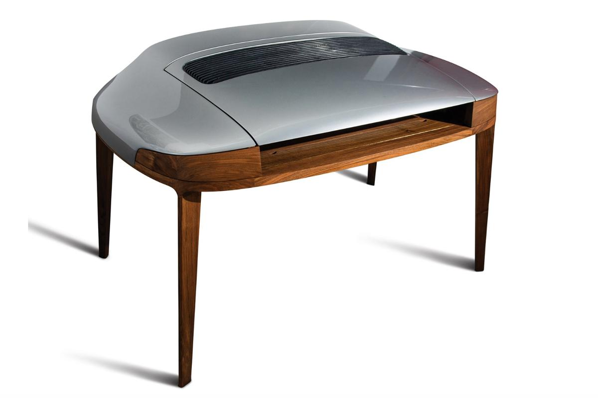 While it won't be everyone's cup of tea, the Porsche Writing Desk is an interesting piece of craftsmanship