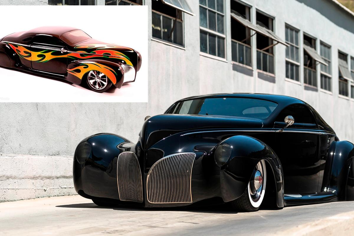 This Lincoln Zephyr moved into mainstream culture when Mattell built a 1/18 scale model of the car for it's top selling Hot Wheels range (inset) of toy cars, ensuring it became one of the most instantly recognisable cars on the planet for a generation.