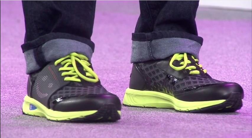 Lenovos's Smart Shoe concept gauges and displays the wearer's mood