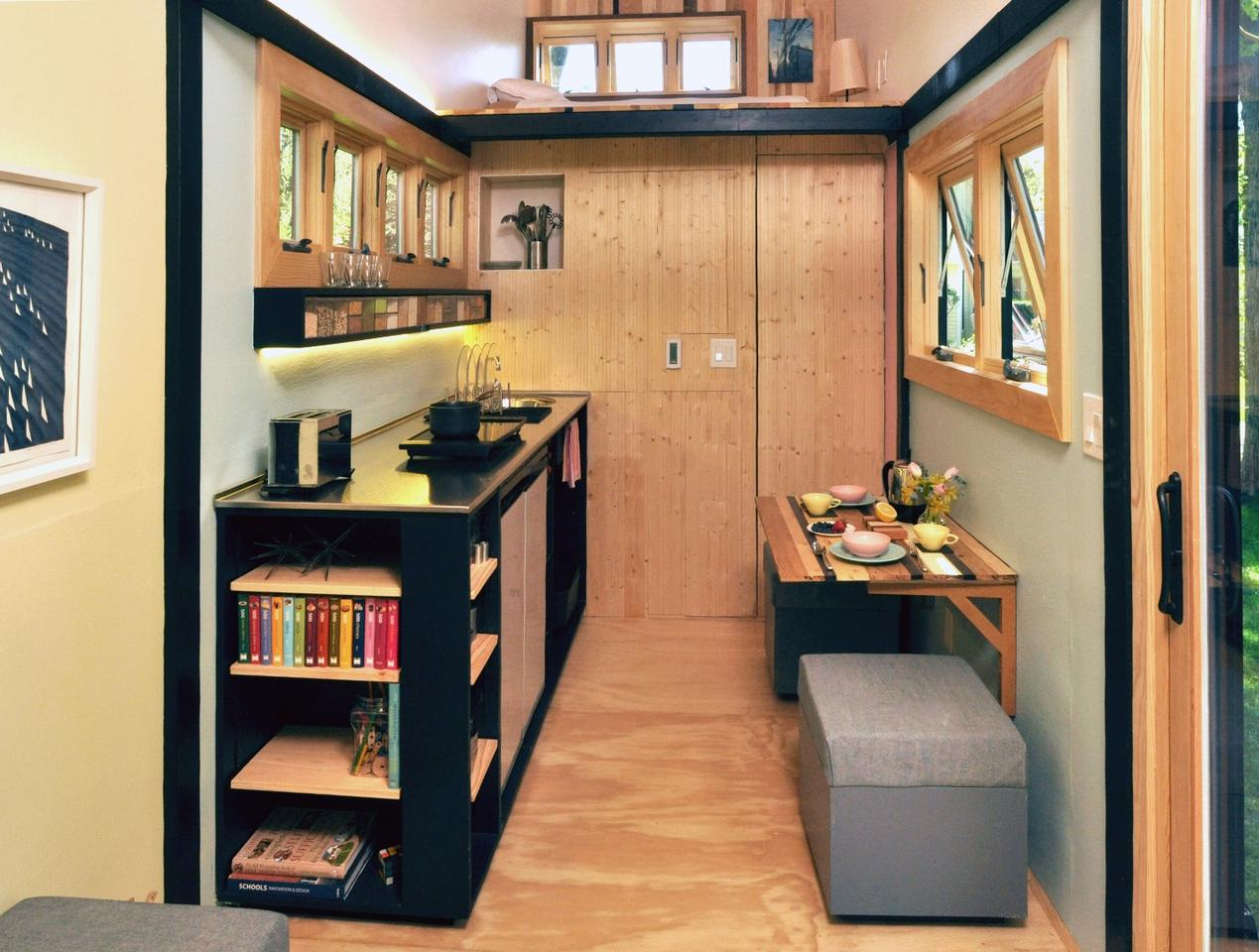 Frank Henderson and Paul Schultz's recently-completed Toybox Tiny Home stands out from the crowd with its well-designed interior