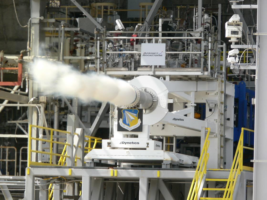 The Air Force Research Laboratory has successfully tested a state-of-the-art rocket engine preburner