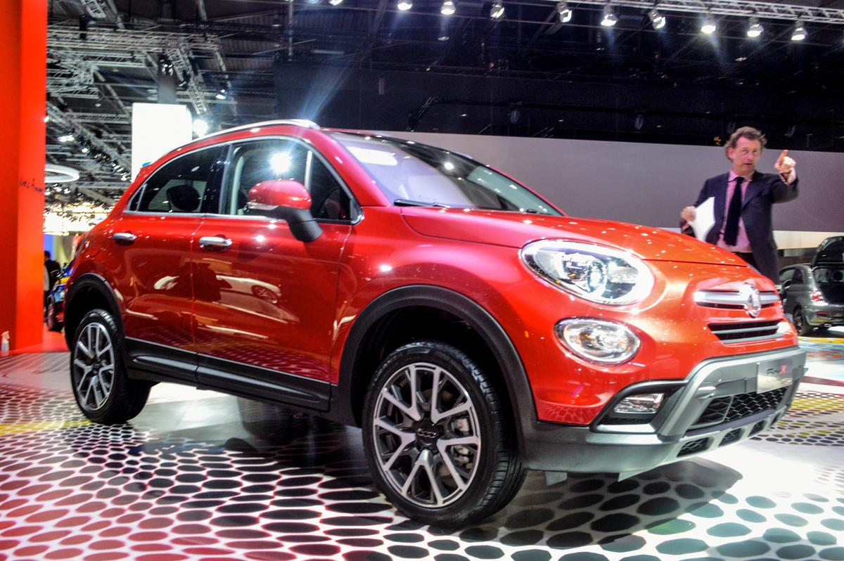 The Fiat 500X at the Paris Motor Show (Photo: CC Weiss/Gizmag.com)
