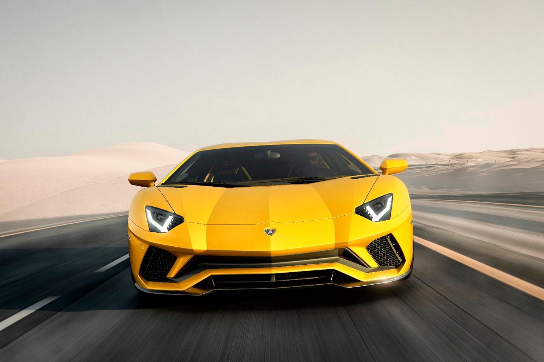 The LamborghiniAventador Shas a new nose for more downforce