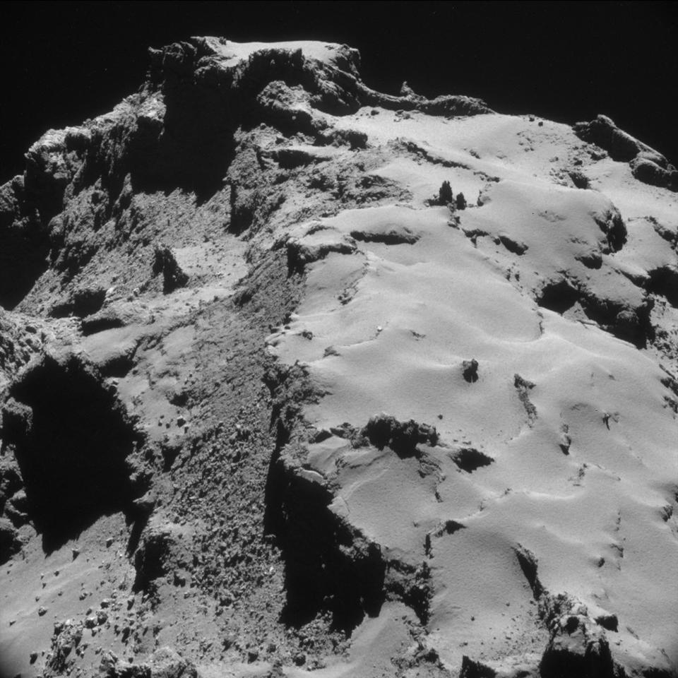 The hoard of new images offers a look at the terrain of 67P/Churyumov-Gerasimenko from exciting new angles