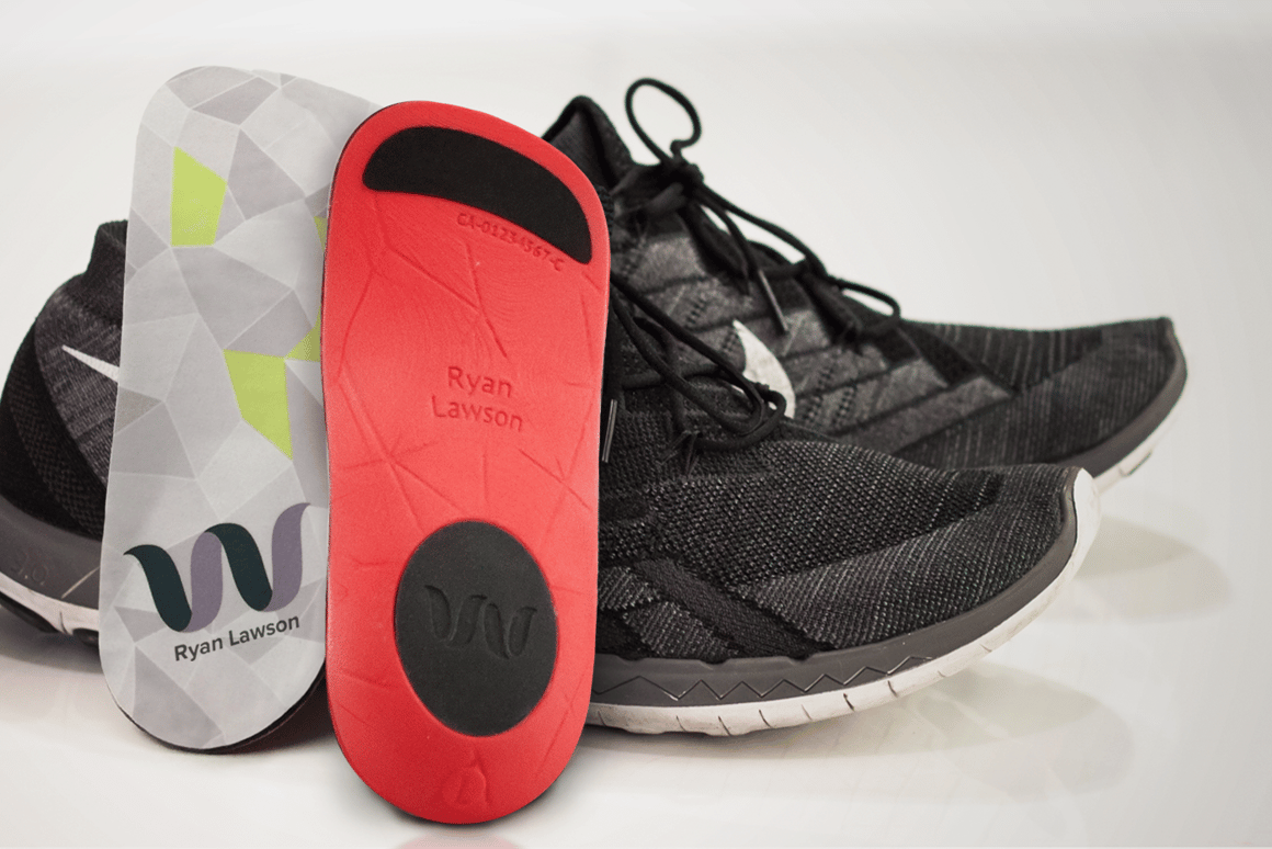 Each Wiivv Base insole is printed from durable and flexible nylon, with silicon treads and pads applied for improved comfort