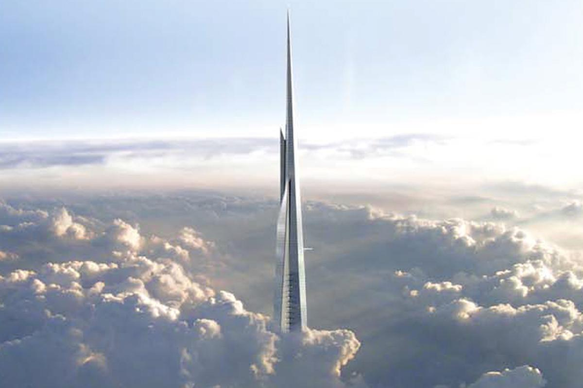The Kingdom Tower will stand over one kilometer tall
