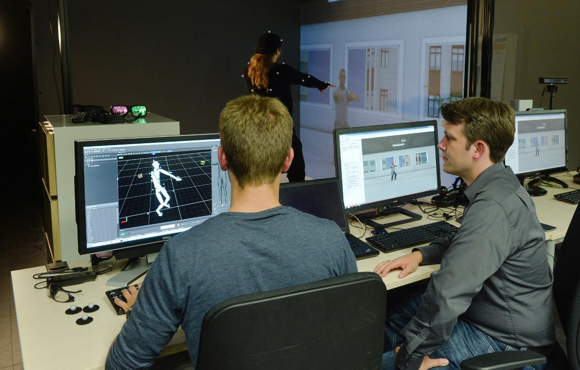 Researchers involved with ICSPACE monitor a full-body avatar