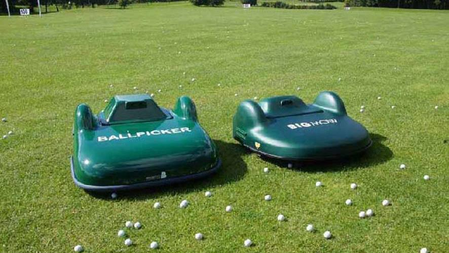 The Ball Picker and BigMow robots are designed to autonomously prowl the golf range