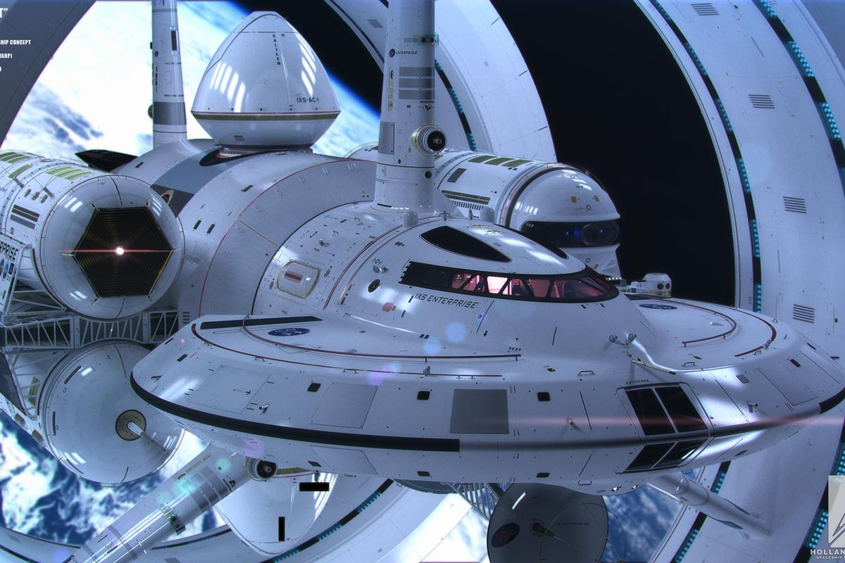 The IXS Enterprise design that takes into account current physics (Image: Courtesy of Mark Rademaker)