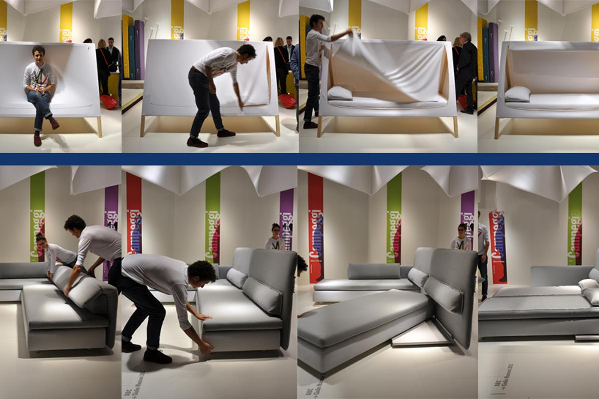 Campeggi showcased its new multi-function furniture designs during this year's Salone del Mobile (Photo: Edoardo Campanale/Gizmag.com)