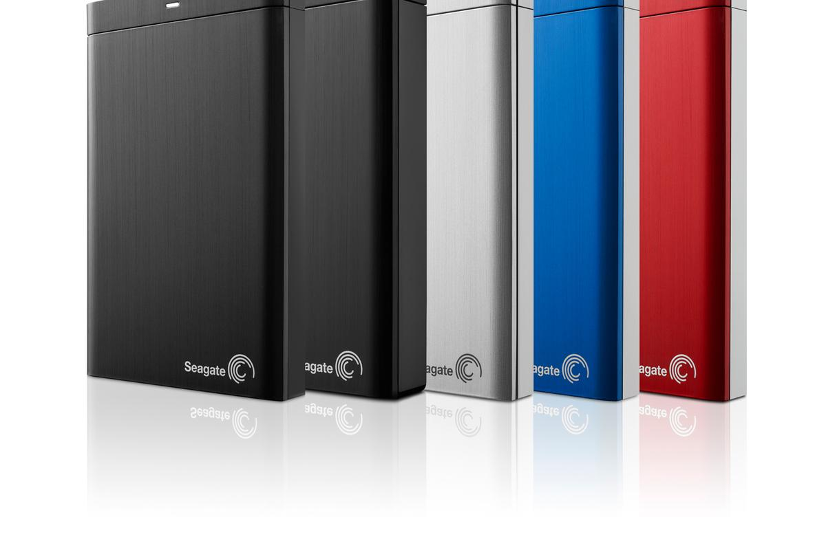 Seagate's Backup Plus drives come in a range of colors and size capacities