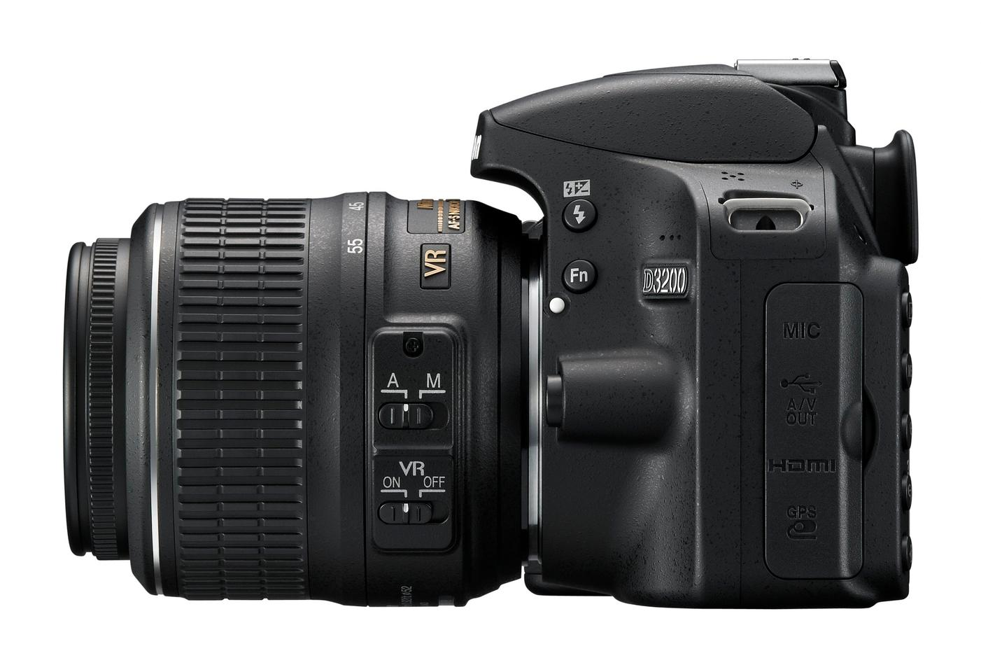 Nikon included a 3.5mm mic input with adjustable sensitivity to vastly improve the audio options of the D3200