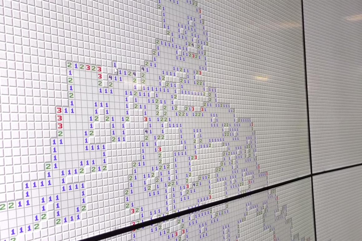 Think you can beat the world's largest version of Minesweeper?