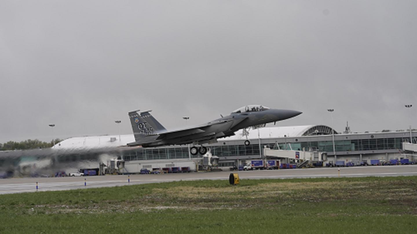 The second F-15EX takes to the skies