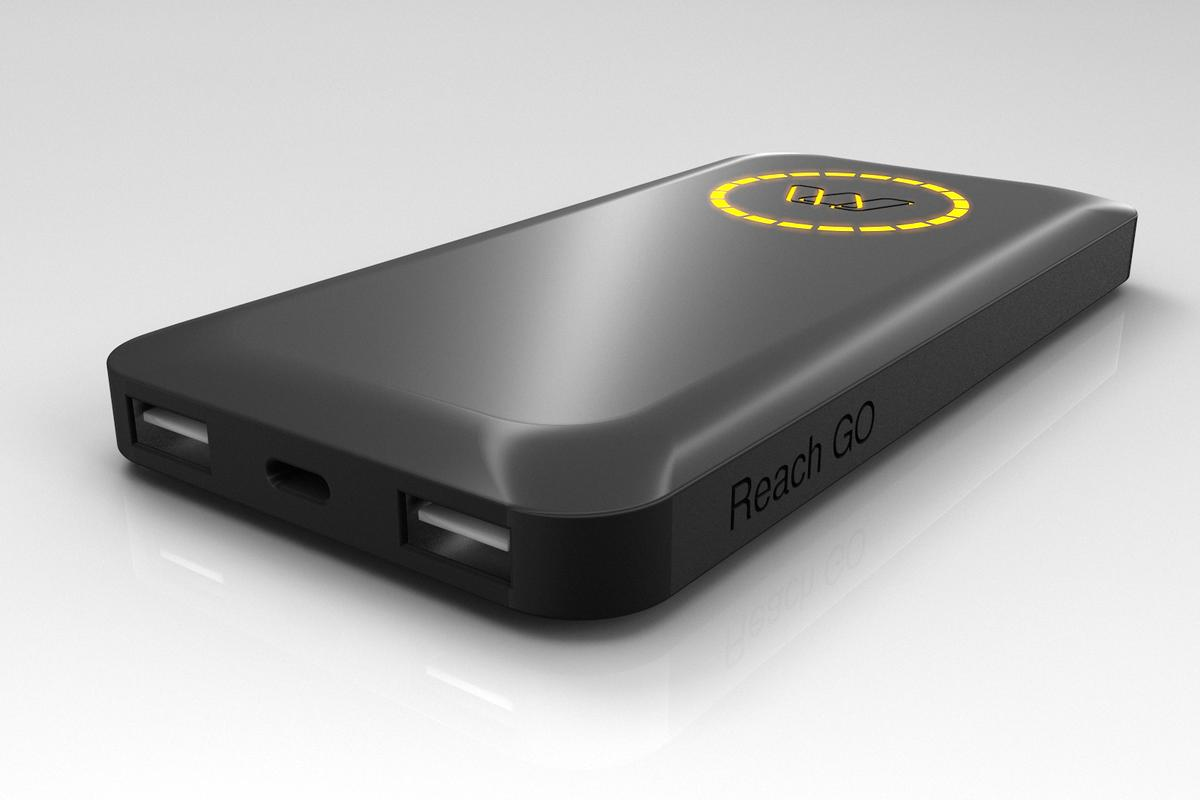 MOS Reach Go power bank features one USB-C port and two USB-A ports