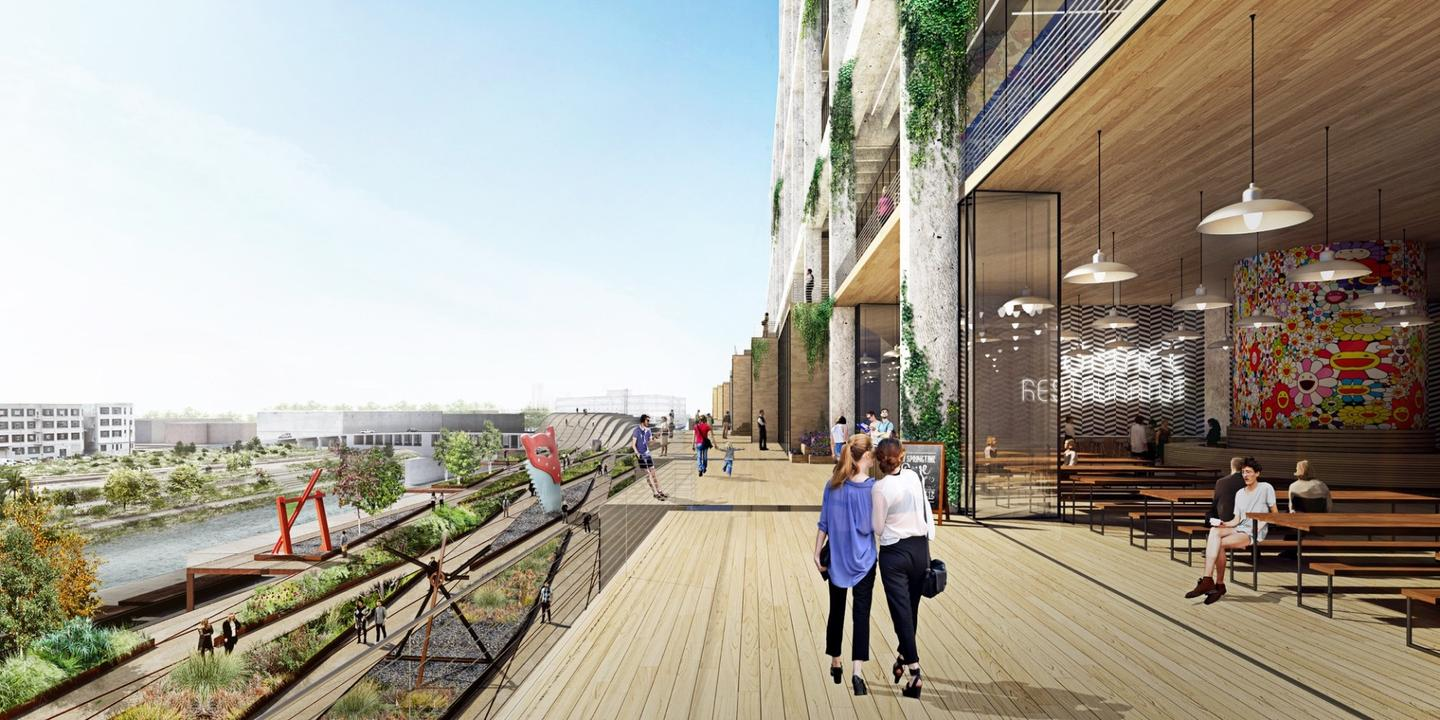 BIG's ongoing United States invasion continues with a new proposal for LA's Arts District