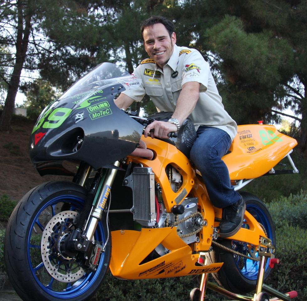 Chip Yates astride the SWIGZ electric superbike