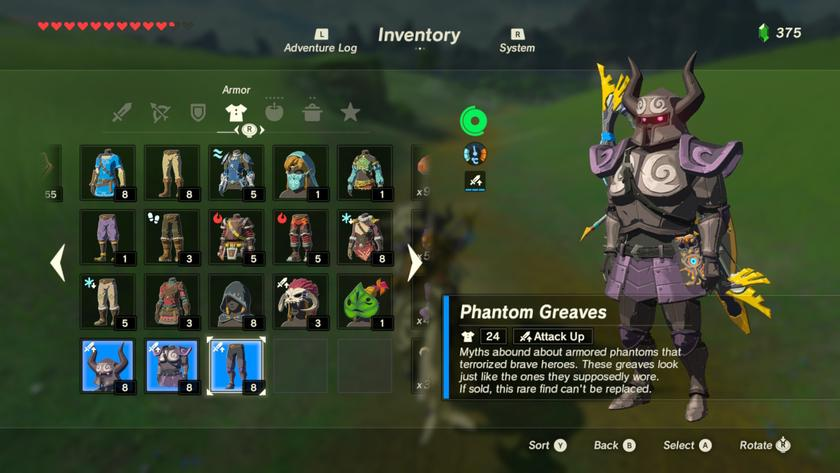 How to find the Phantom Armor in Breath of the Wild
