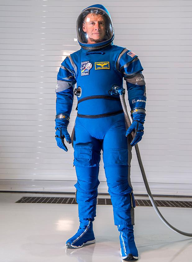 The Boeing Blue spacesuit is 40 percent lighter than standard NASA issue