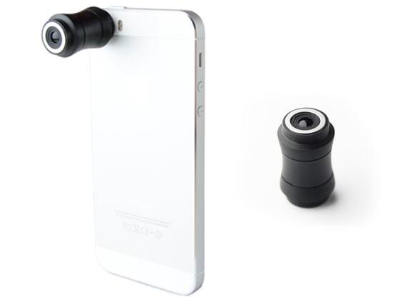 The Lensbaby LM-10 Sweet Spot Lens attaches to a smartphone with magnets and an adhesive-backed stainless steel ring