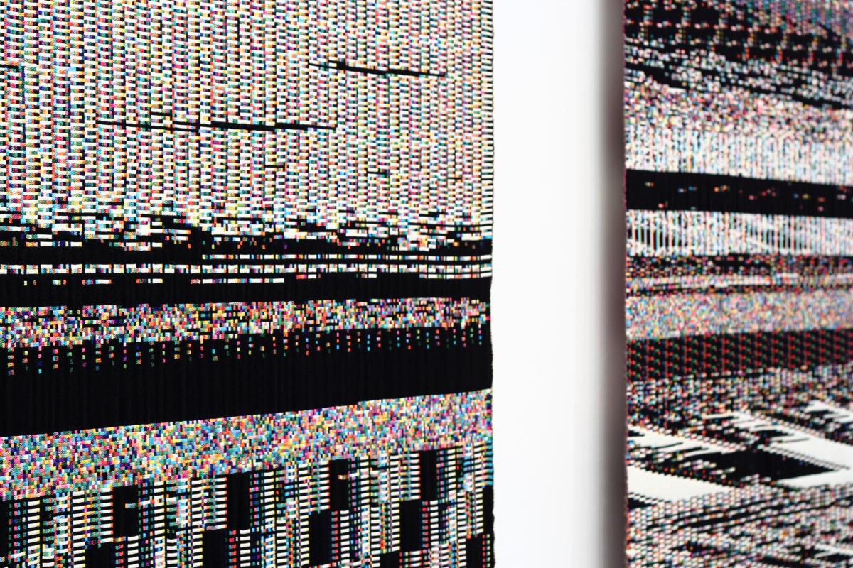 A series from Phillip Stearns called 'Fragmented Memory' in which he created textiles out of a memory dump from his CPU
