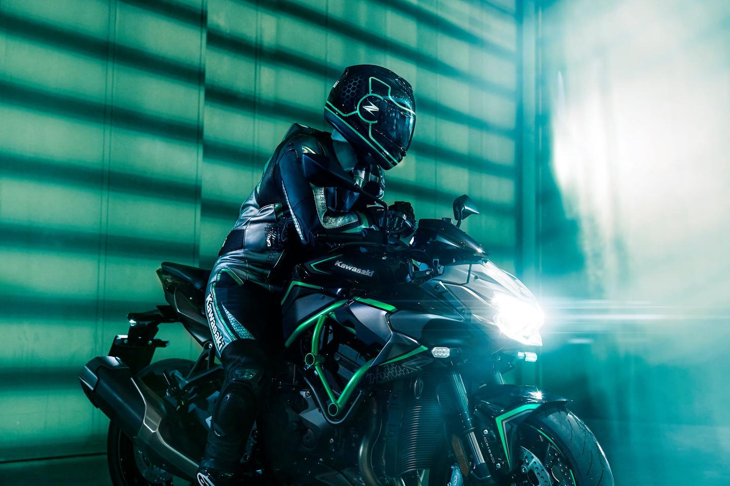 This rider is getting some physical rest after riding a supercharged Kawasaki. We can sympathize.