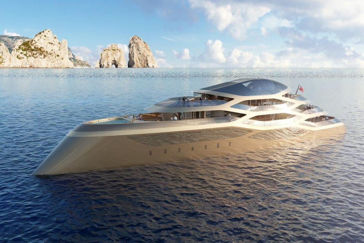 The Benetti concept yacht debuted at the Monaco Yacht Show