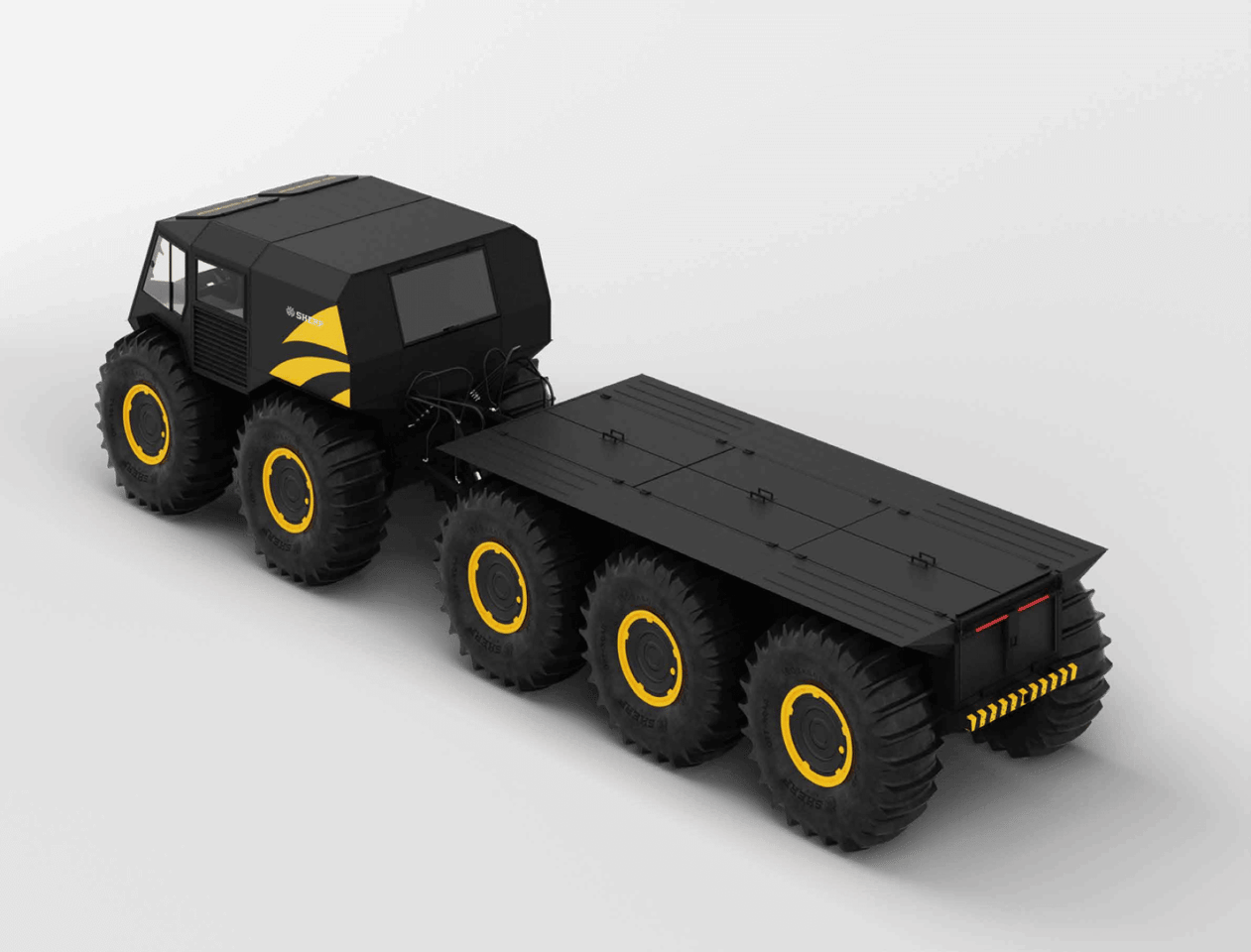 Sherp's new the Ark all-terrain amphibious vehicle adds some serious cargo/passenger capacity to the lineup