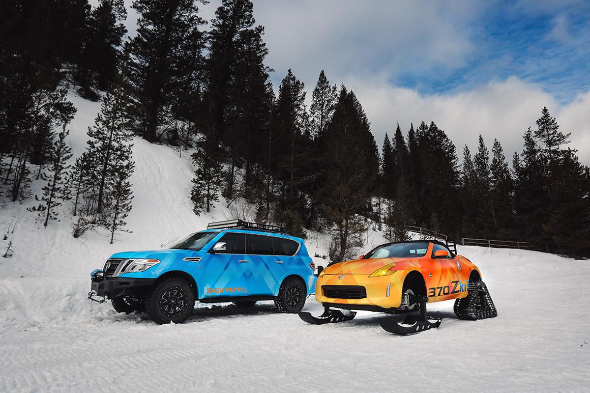 The Nissan Armada Snow Patrol and the 370Zki project vehicles are being shown at the 2018 Chicago Auto Show
