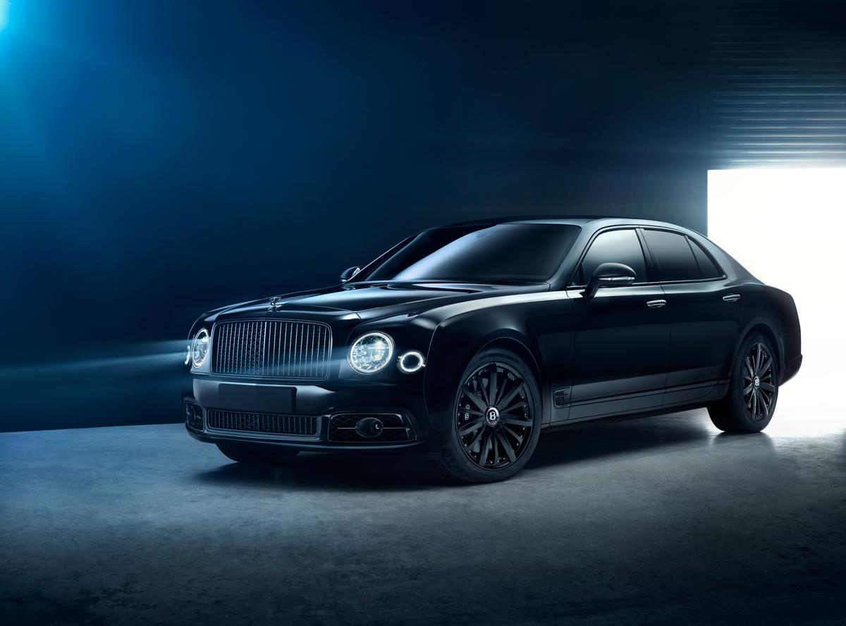Ablacked-out but classy Mulsanne