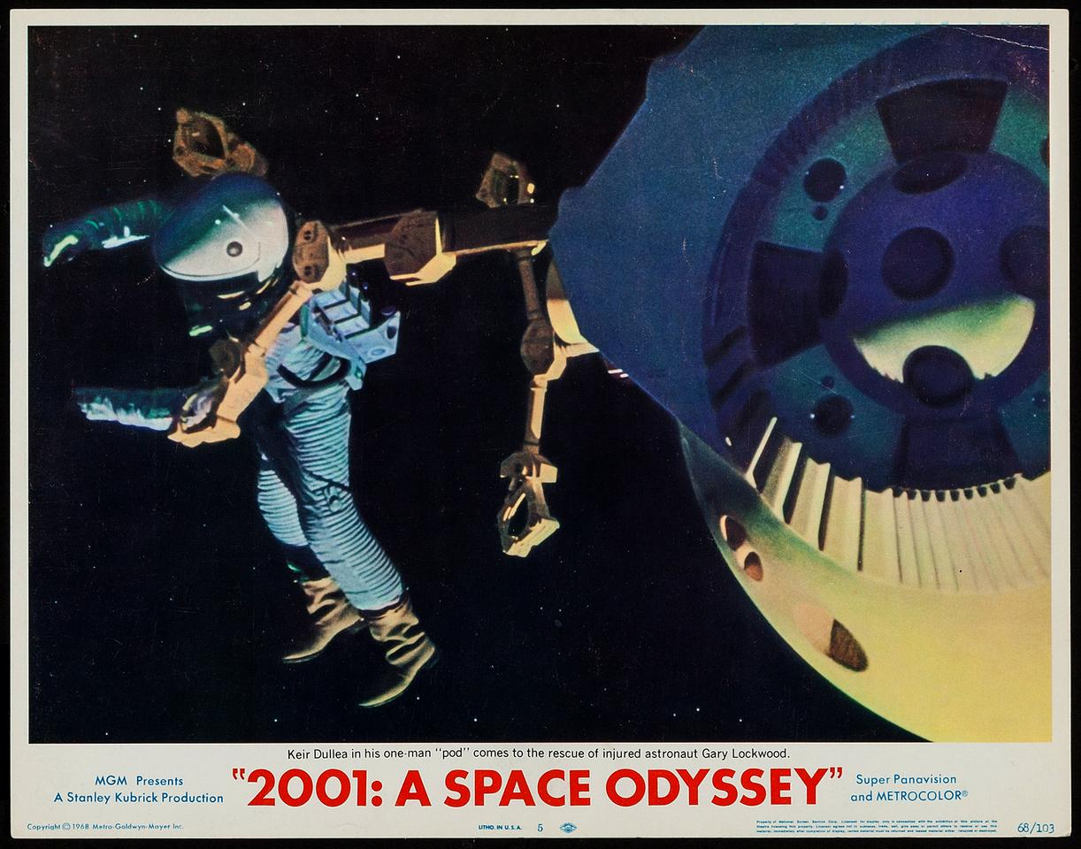 Poster for 2001: A Space Odyssey (MGM, 1968)