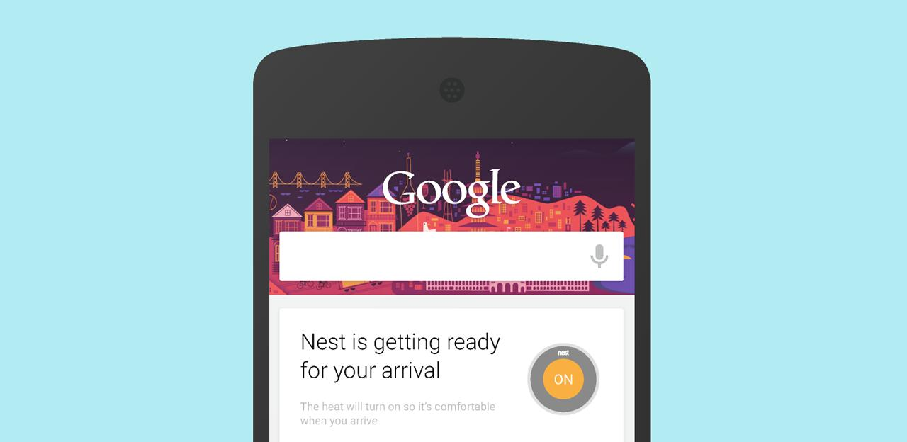 The Nest smart thermostat can now be controlled from within Google's smartphone app
