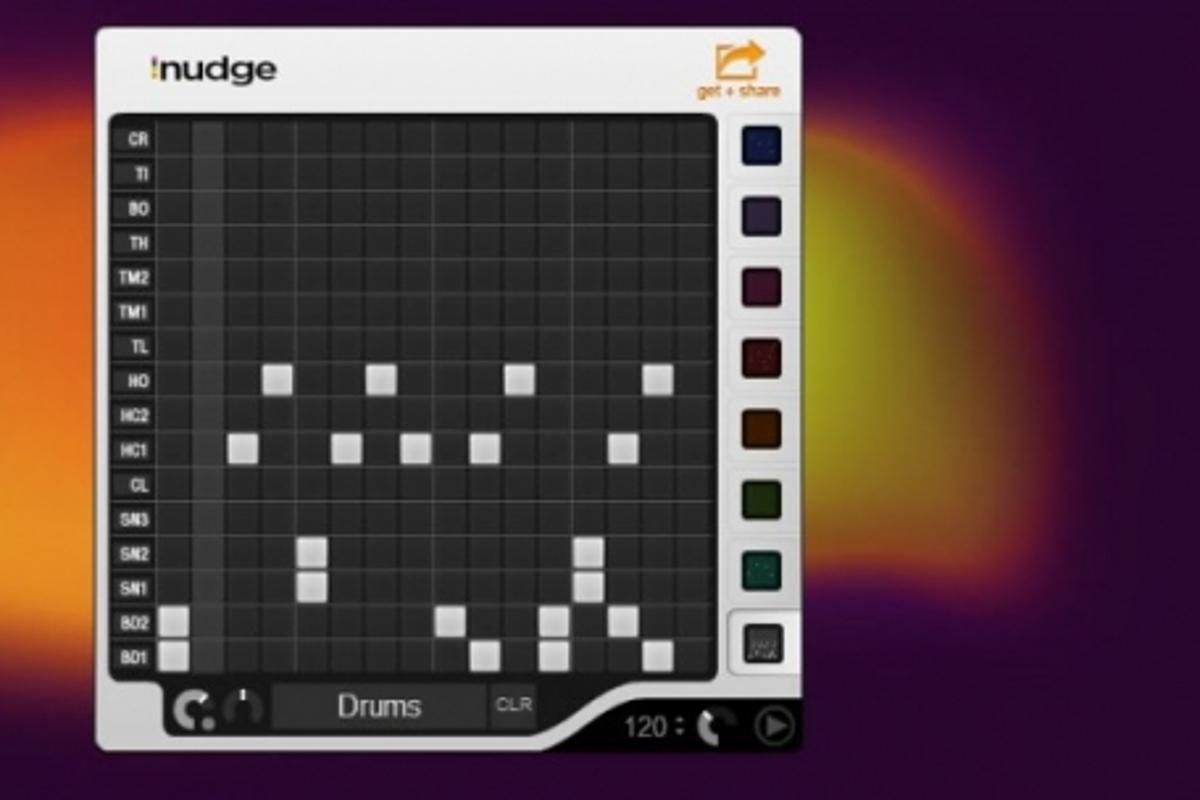 Cook up a quick music sequence with iNudge.