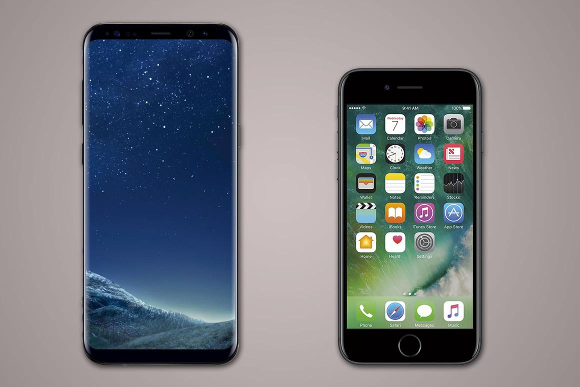 Samsung Galaxy S8+ vs  iPhone 7