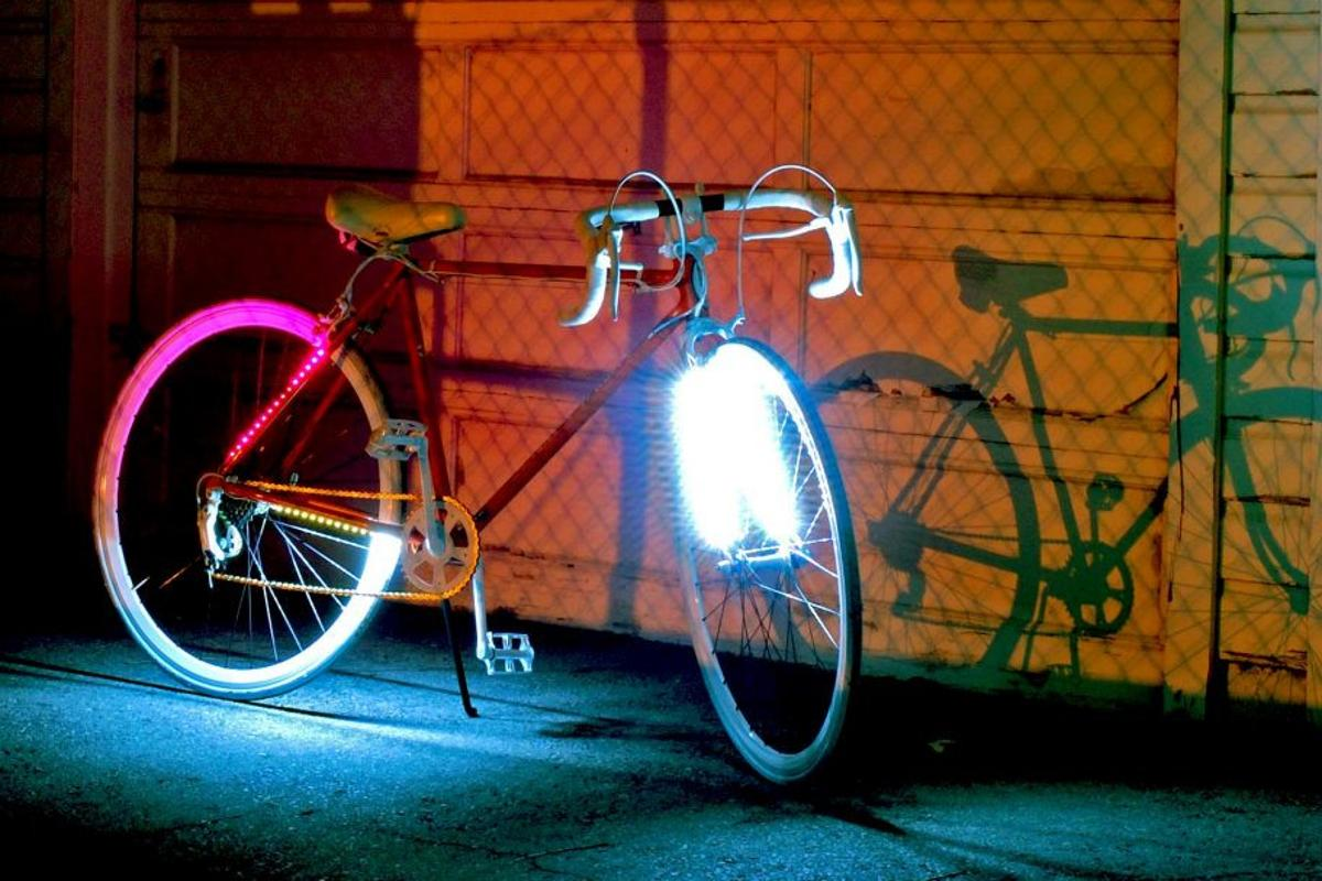 LED by LITE is a bicycle illumination system that cyclists control from a wireless handlebar-mounted unit