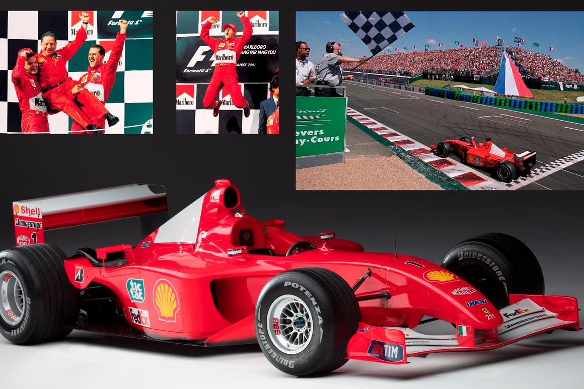 Schumacher's 2001 Ferrari F1 for sale as contemporary art