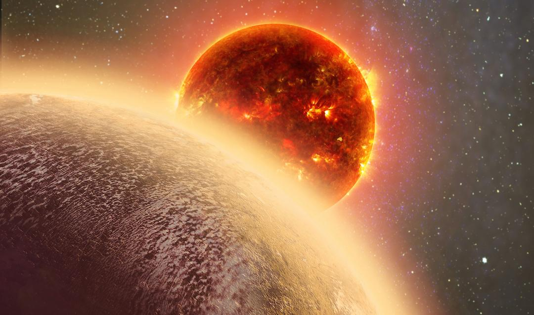 An artist's rendition of GJ 1132b, an exoplanet which may have an atmosphere of oxygen, but is too hot forlife