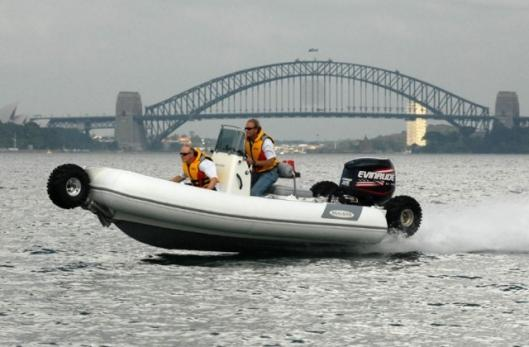 Sealegs amphibious on-water record