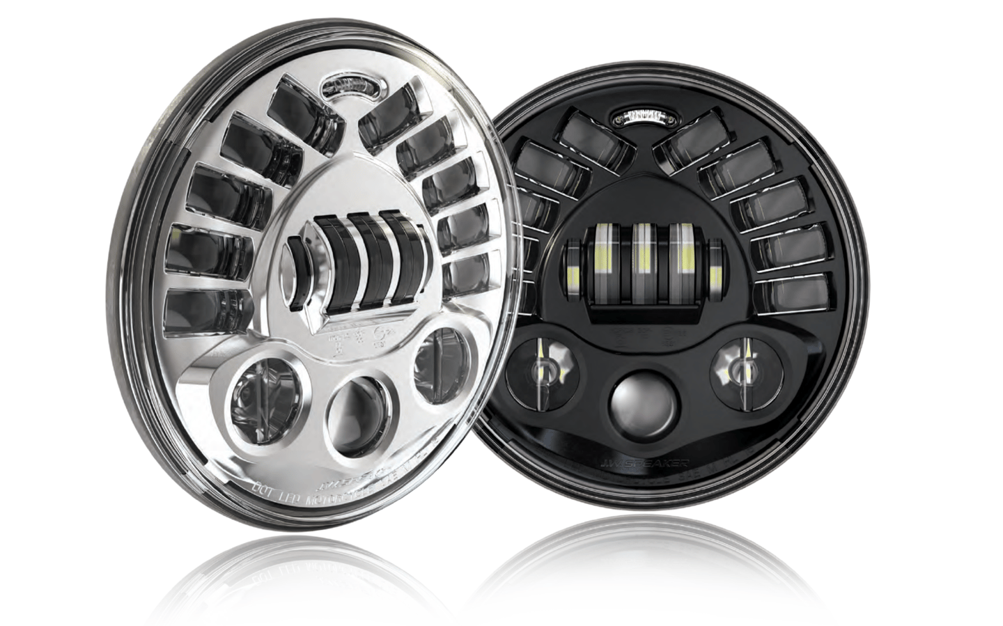J.W. Speaker Model 8790 Adaptive Low Beam LED Headlight: designed to look around corners and eliminate the typical rider's blind spot
