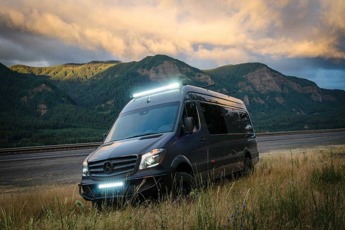 Portland's Outside Van shows the newly arrived Mercedes Sprinter 4x4 some love