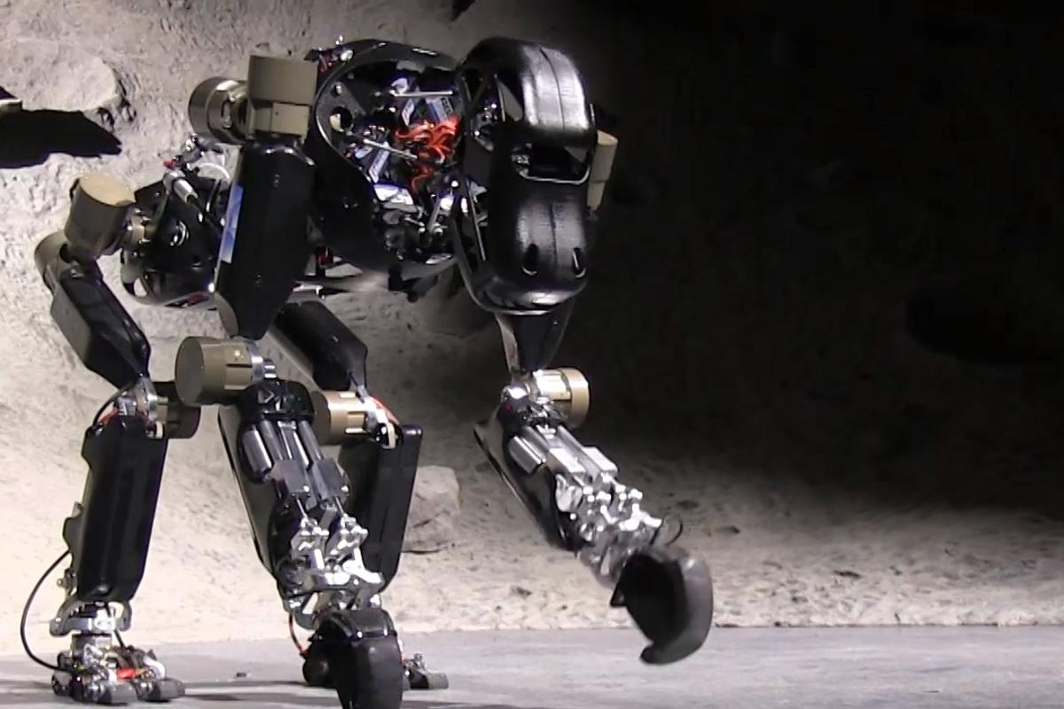 DFKI's iStruct is an ape-like robot that was developed with funding from the German Aerospace Center (Photo: DLR)