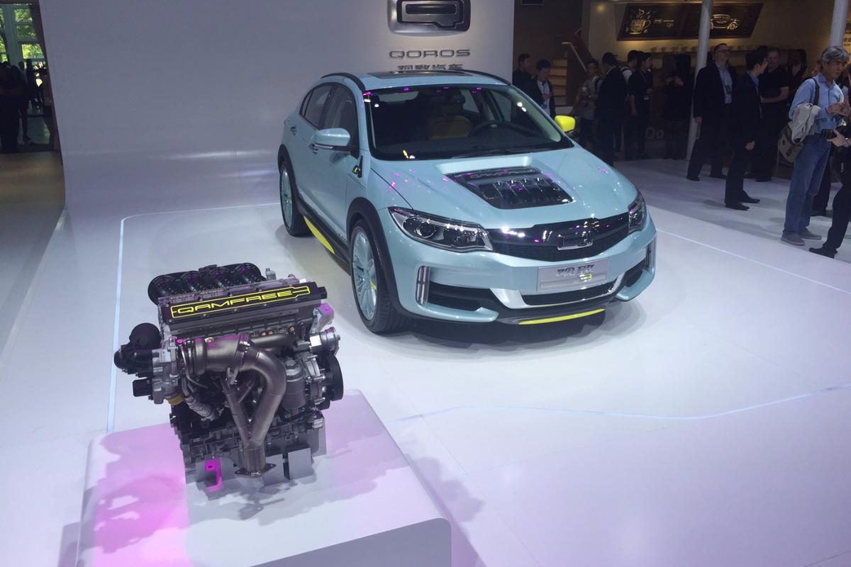 Qoros used the Beijing Motor Show to demonstrate its camless engine