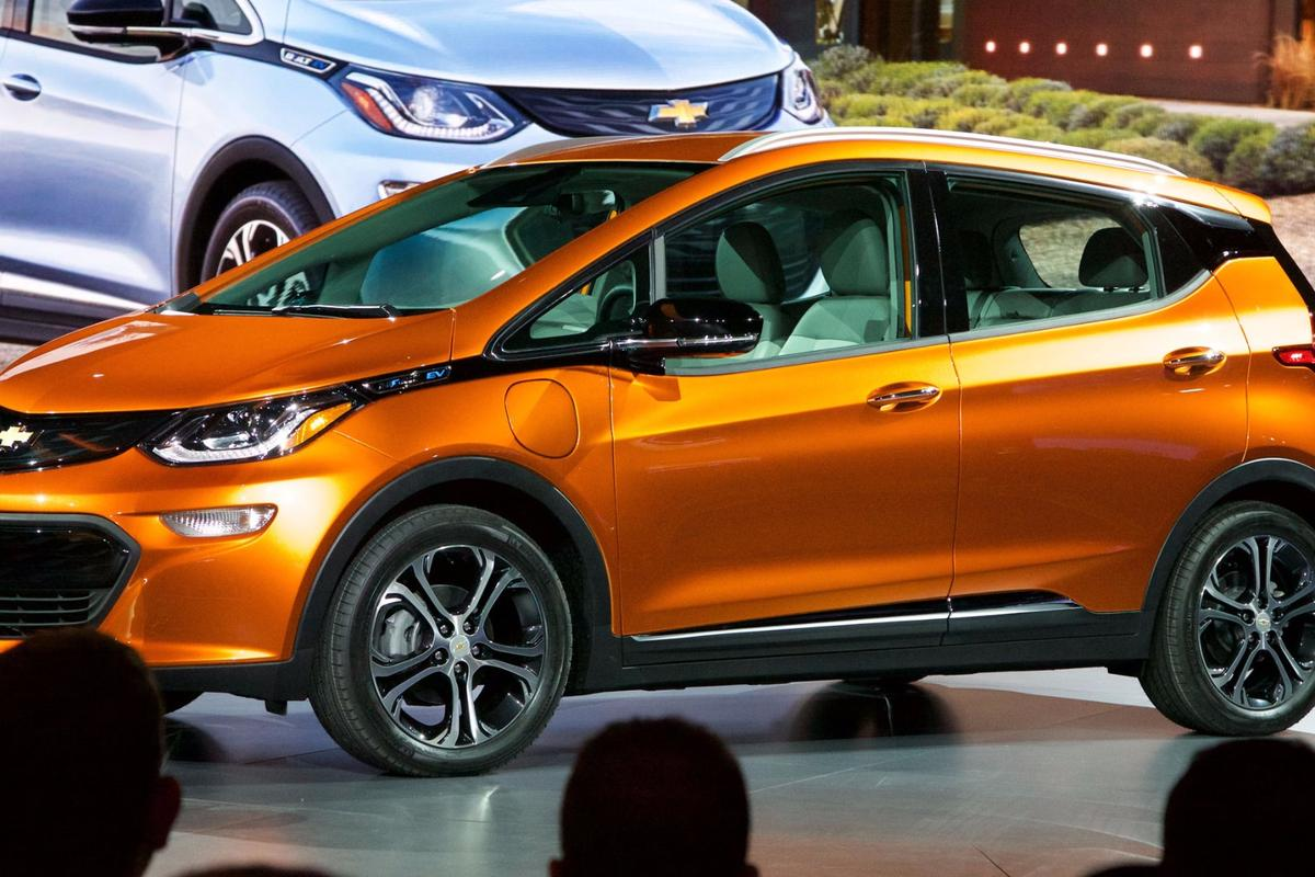 The Chevy Bolt at Chevrolet's NAIAS press conference in Detroit