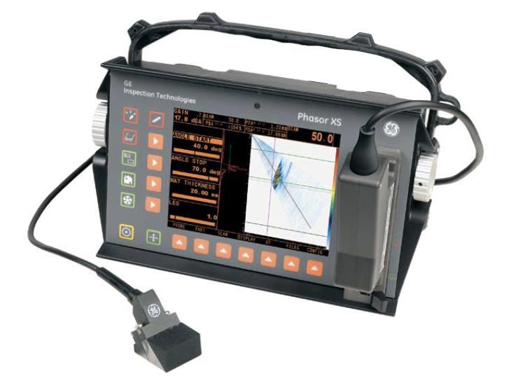 GE Phasor XS ultrasonic flaw detector